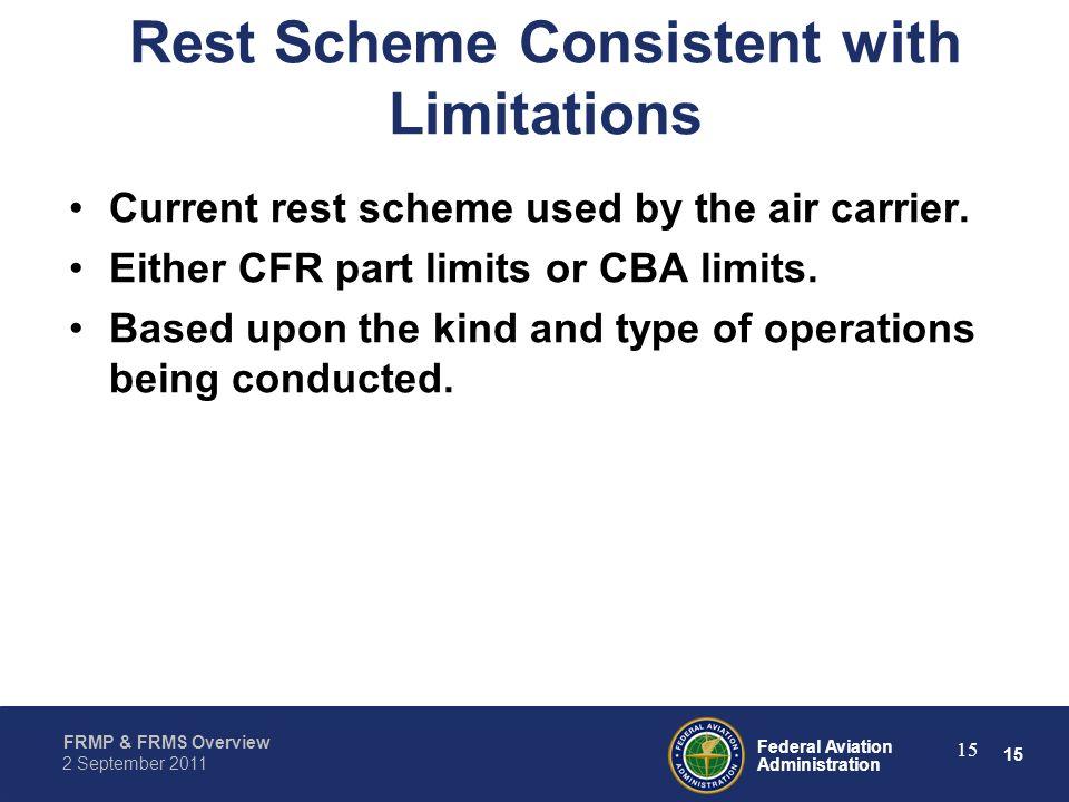 Rest Scheme Consistent with Limitations