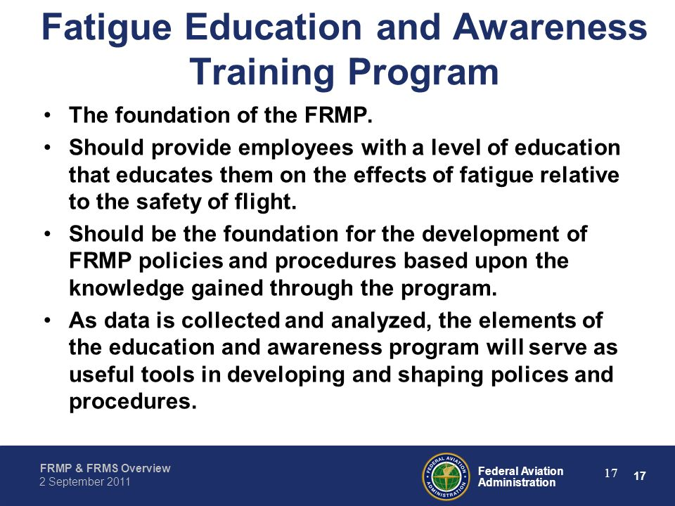 Fatigue Education and Awareness Training Program
