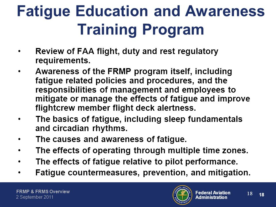 Fatigue Education and Awareness Training Program