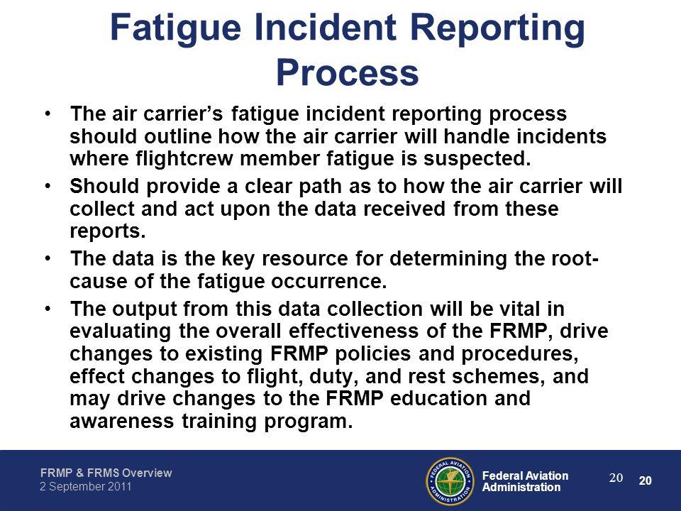 Fatigue Incident Reporting Process