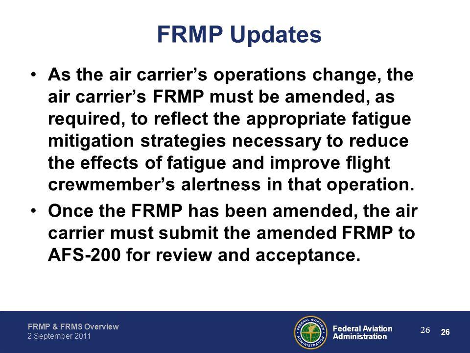 FRMP Updates