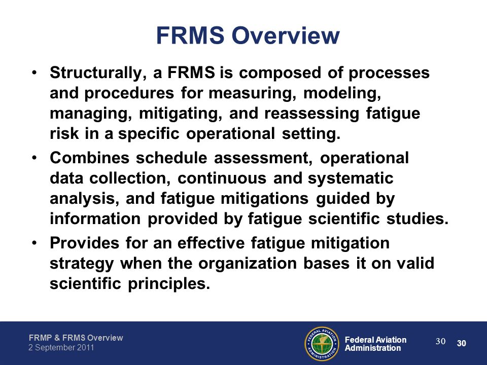 FRMS Overview
