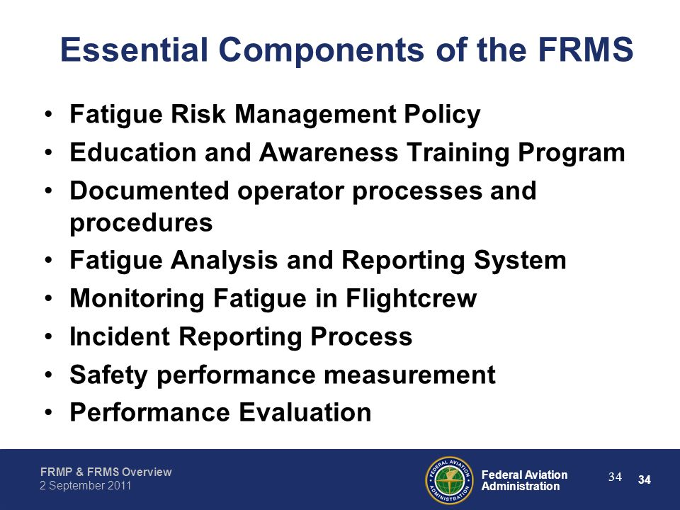 Essential Components of the FRMS