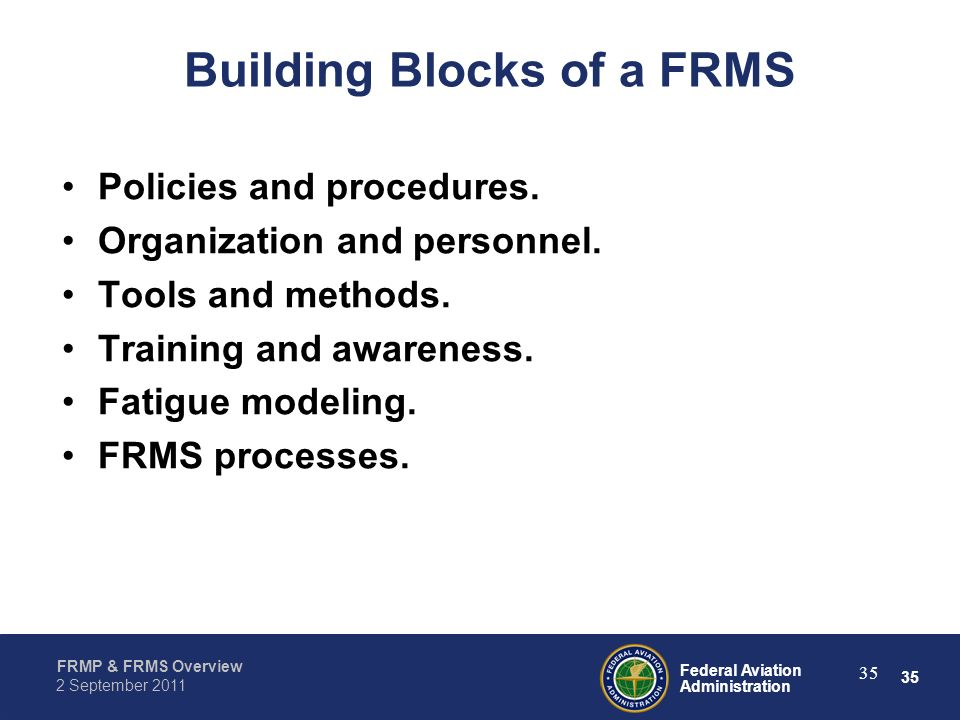 Building Blocks of a FRMS