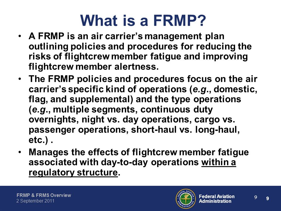 What is a FRMP