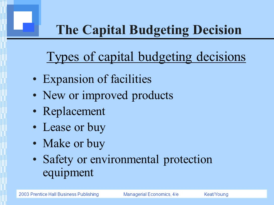 An Introduction To Capital Budgeting