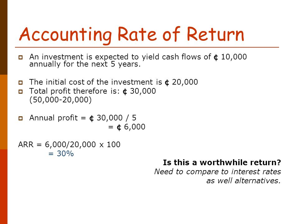 How to calculate accounting rate of return.