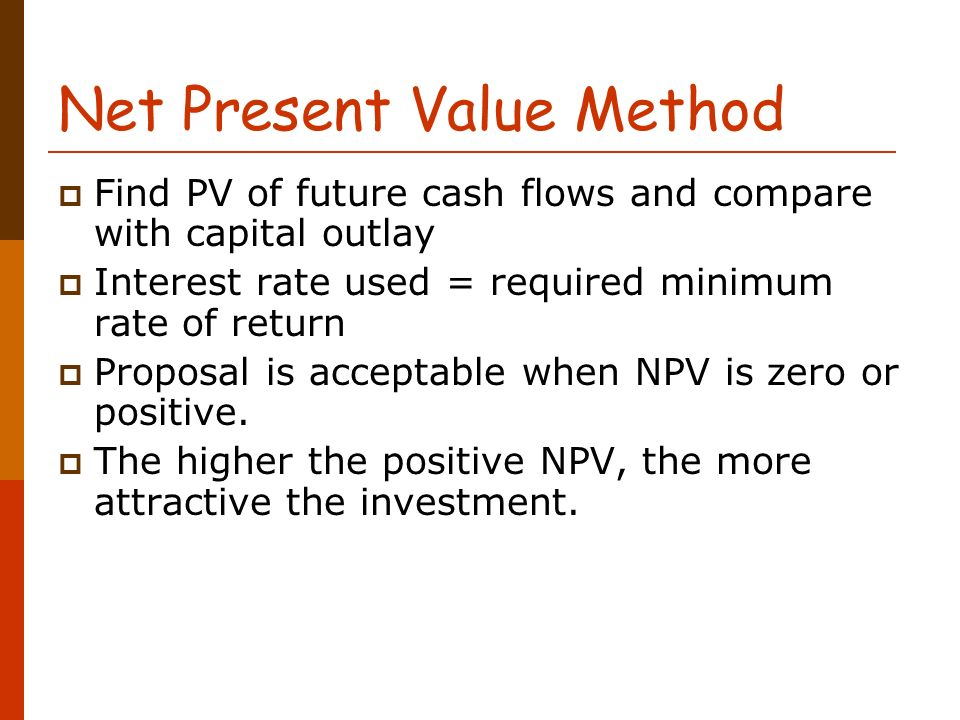 find net present value