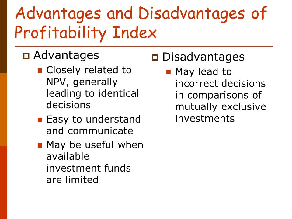 advantages and disadvantages of npv irr relationship