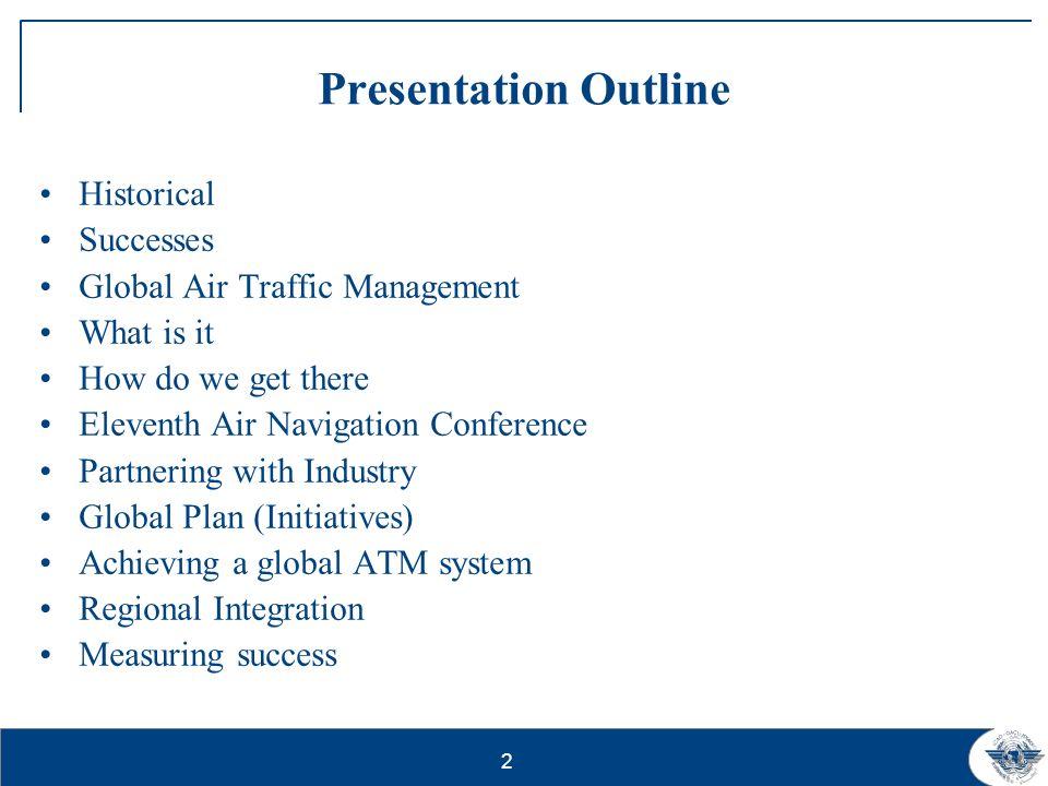 Presentation Outline Historical Successes
