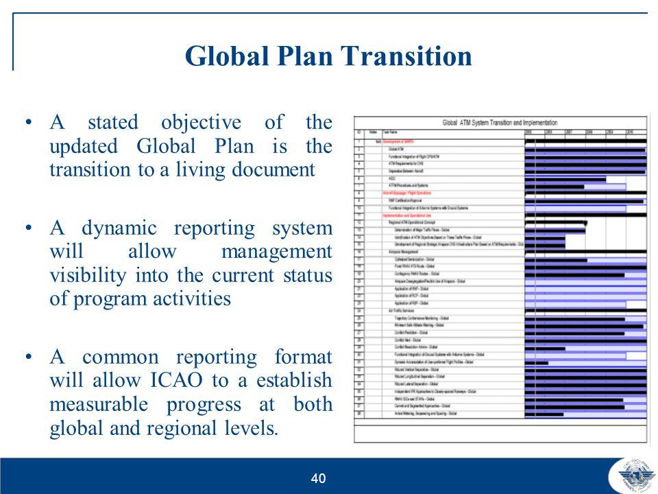 Global Plan Transition