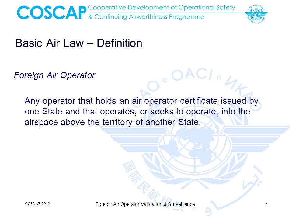 Basic Air Law – Definition