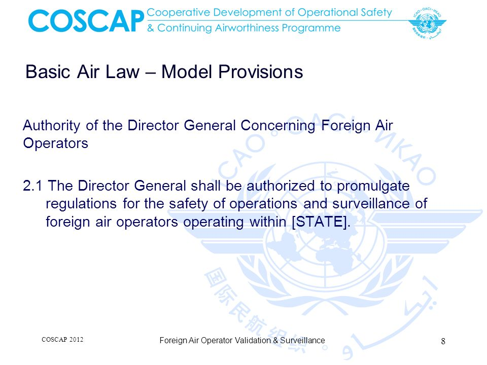 Basic Air Law – Model Provisions