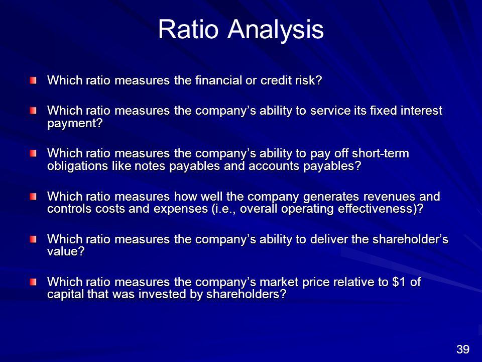 credit risk analysis ratios pdf