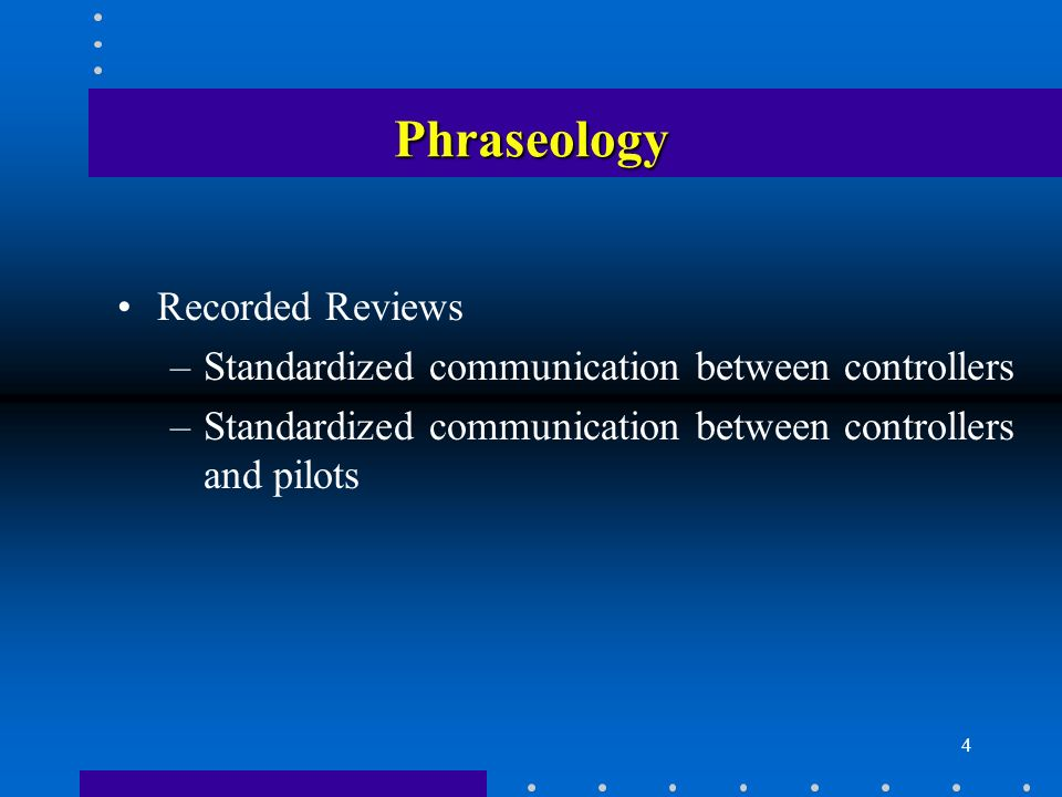 Phraseology Recorded Reviews