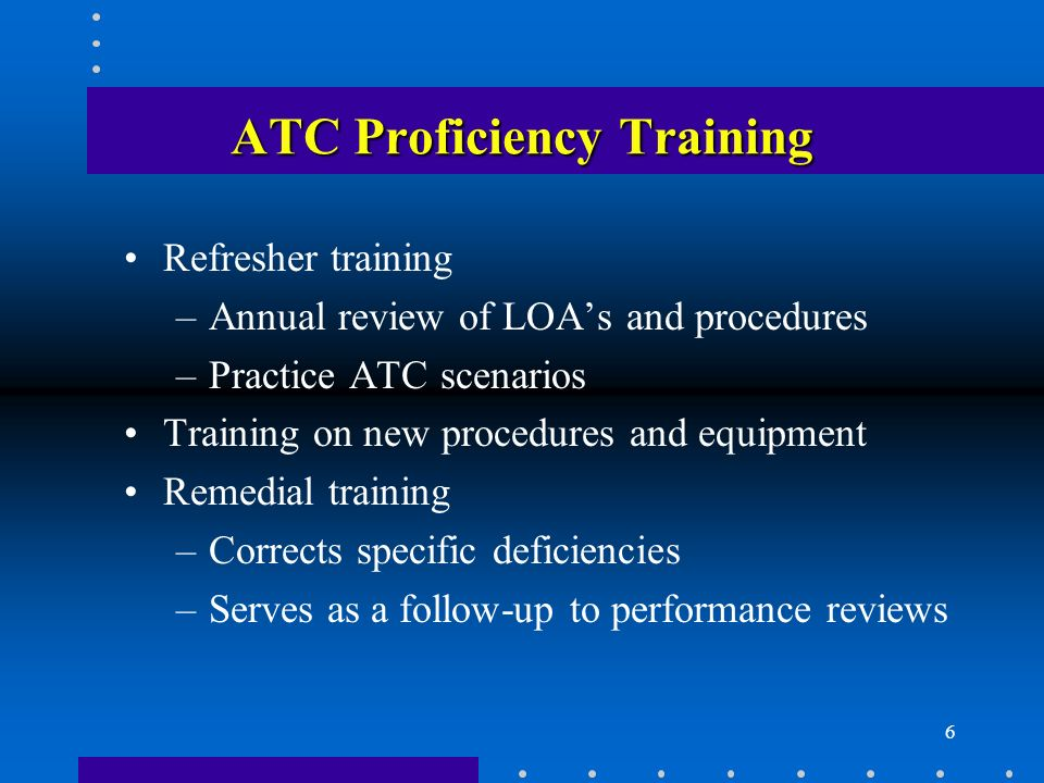 ATC Proficiency Training