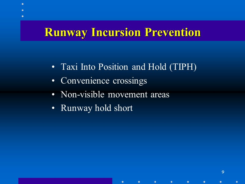 Runway Incursion Prevention