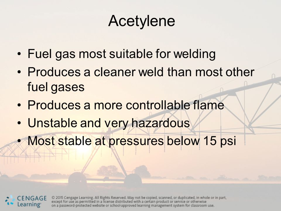 Acetylene Fuel gas most suitable for welding