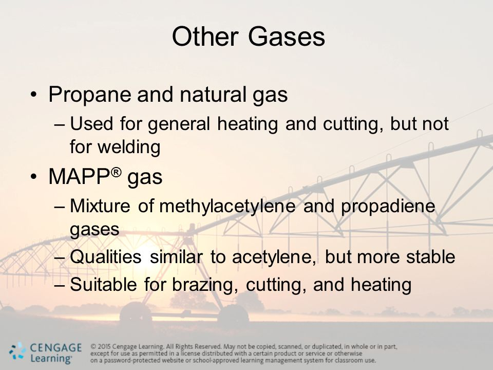 Other Gases Propane and natural gas MAPP® gas