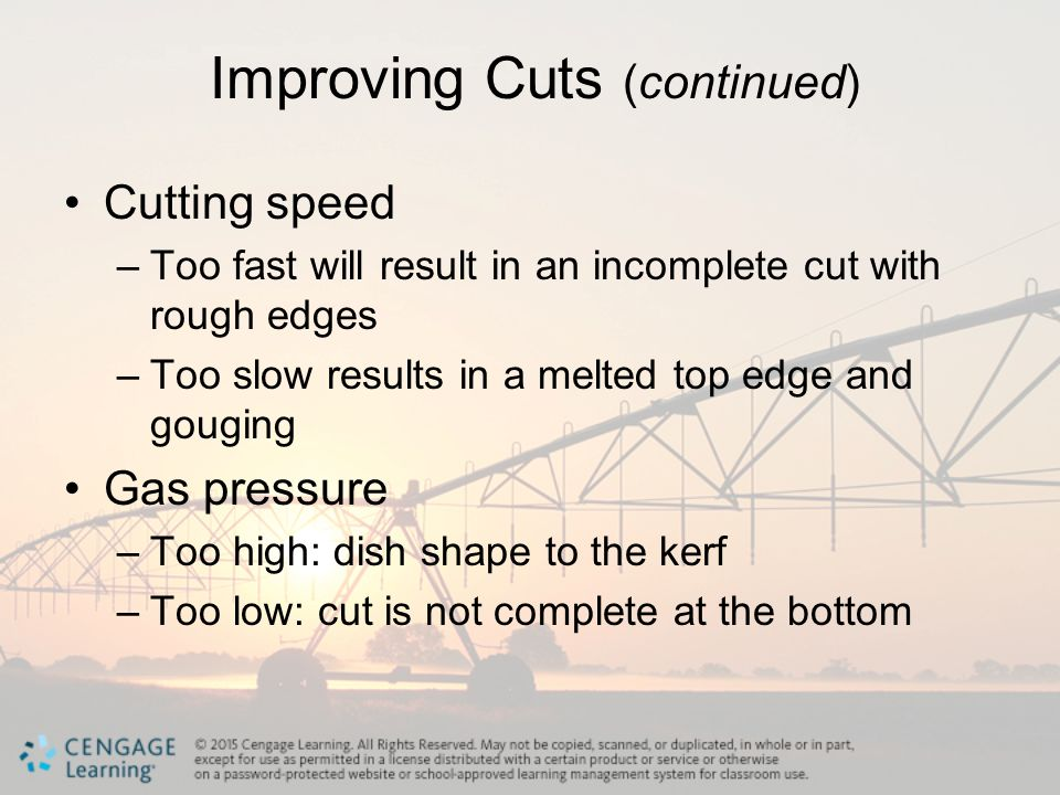 Improving Cuts (continued)