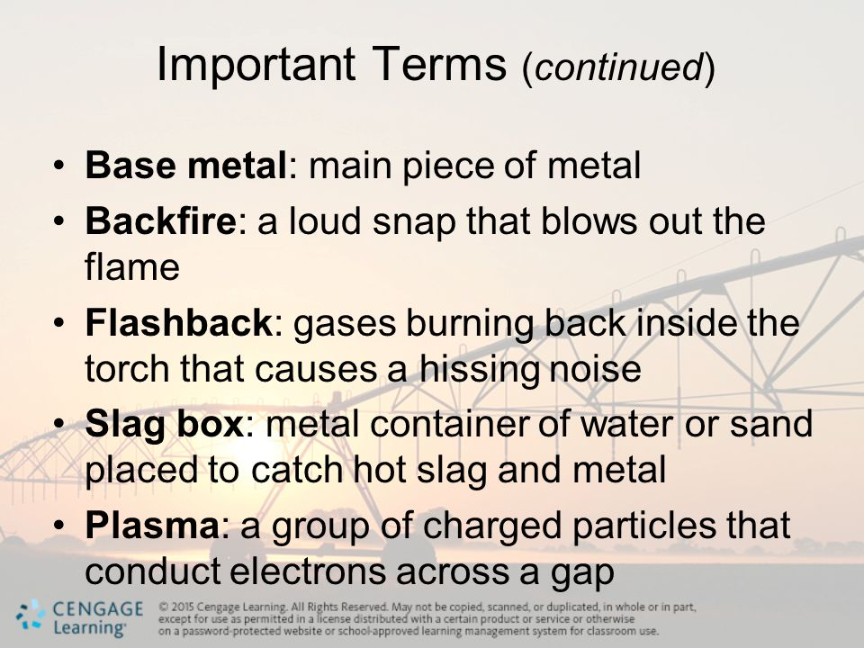 Important Terms (continued)