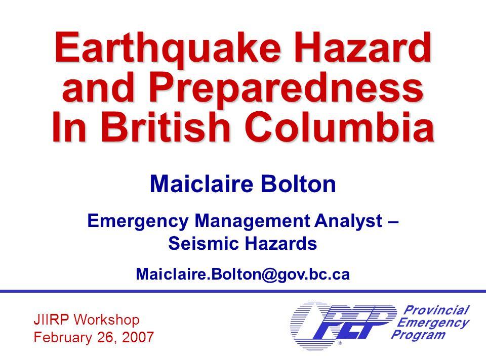 Earthquake hazard and preparedness in british columbia ppt video earthquake hazard and preparedness in british columbia solutioingenieria Image collections