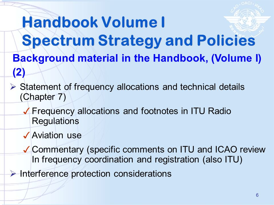 Handbook Volume I Spectrum Strategy and Policies