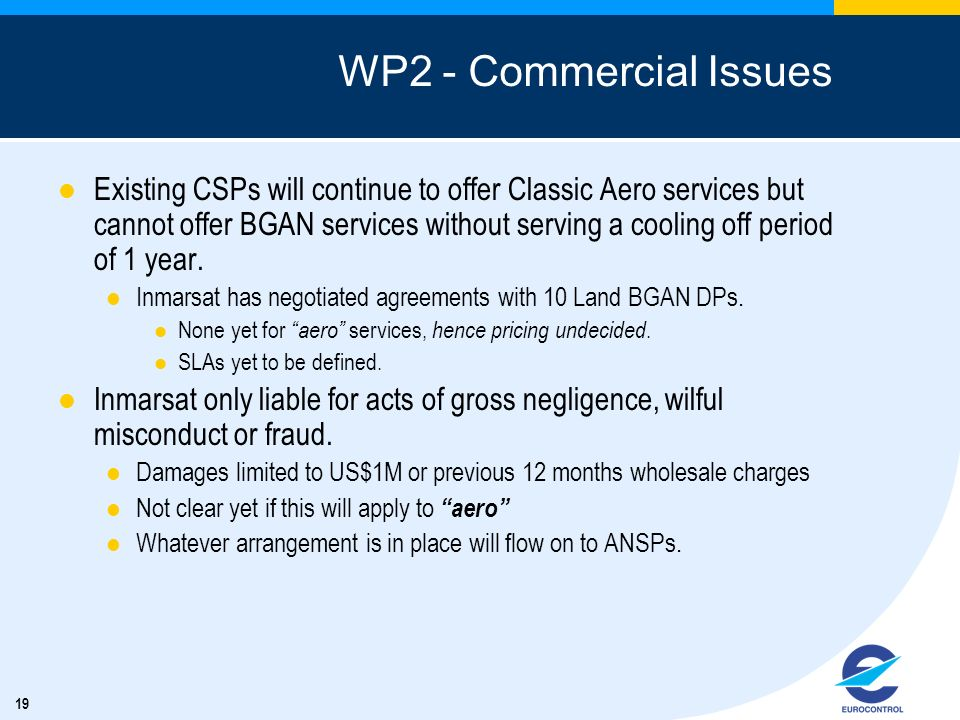 WP2 - Commercial Issues