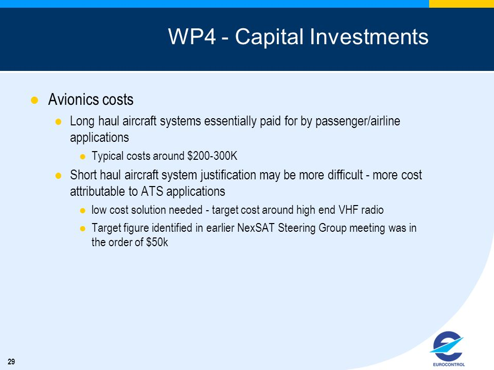 WP4 - Capital Investments