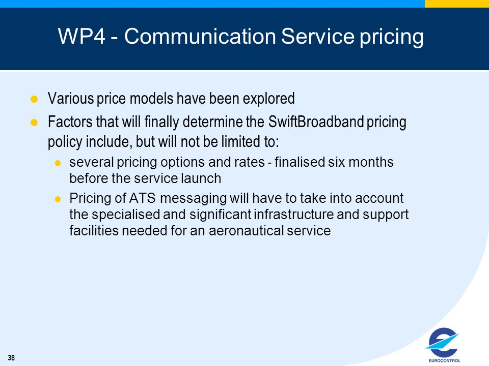 WP4 - Communication Service pricing