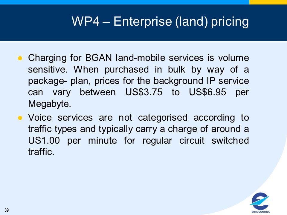 WP4 – Enterprise (land) pricing
