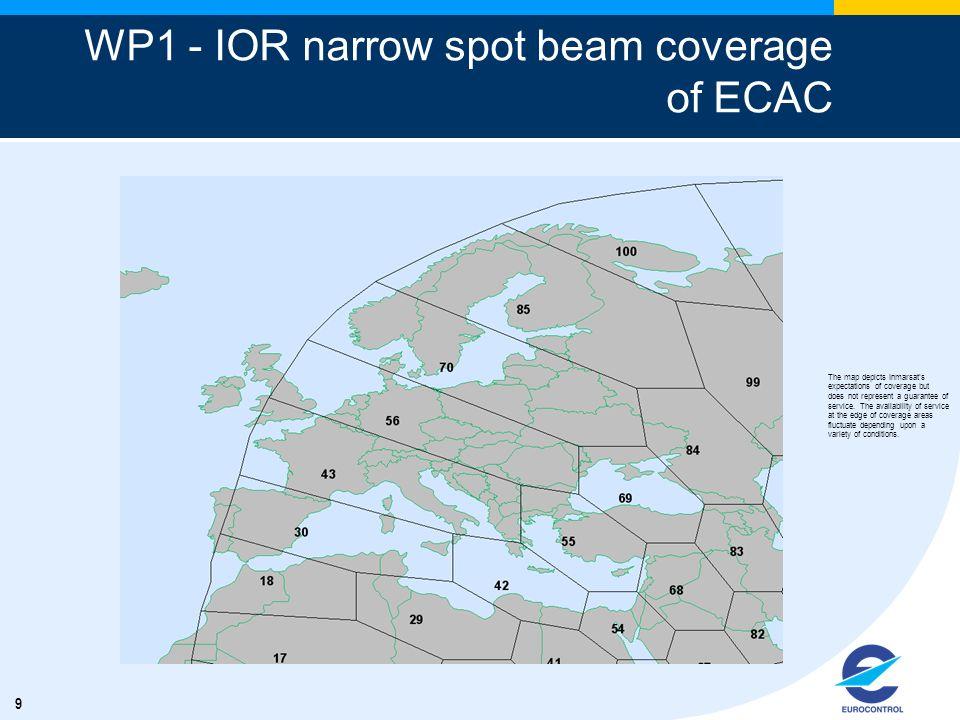 WP1 - IOR narrow spot beam coverage of ECAC