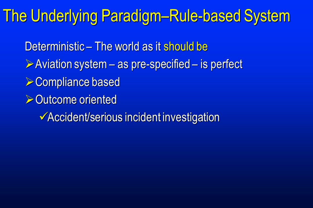The Underlying Paradigm–Rule-based System