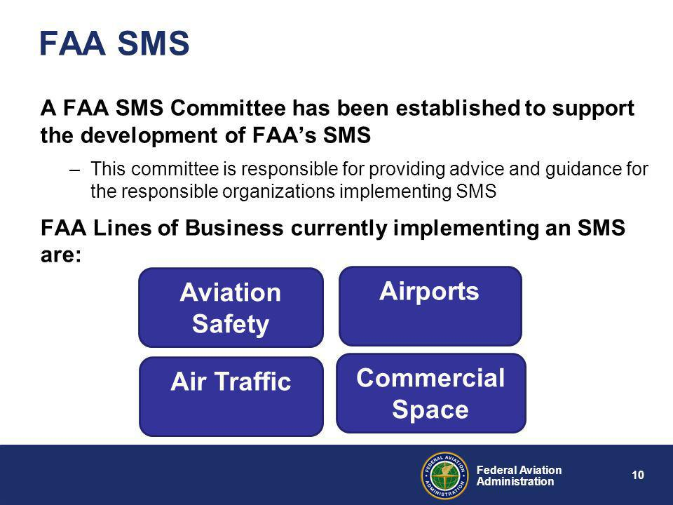 FAA SMS Aviation Safety Airports Commercial Space Air Traffic