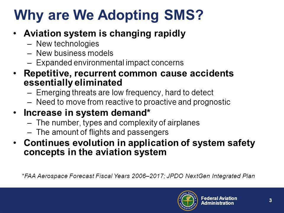 Why are We Adopting SMS Aviation system is changing rapidly