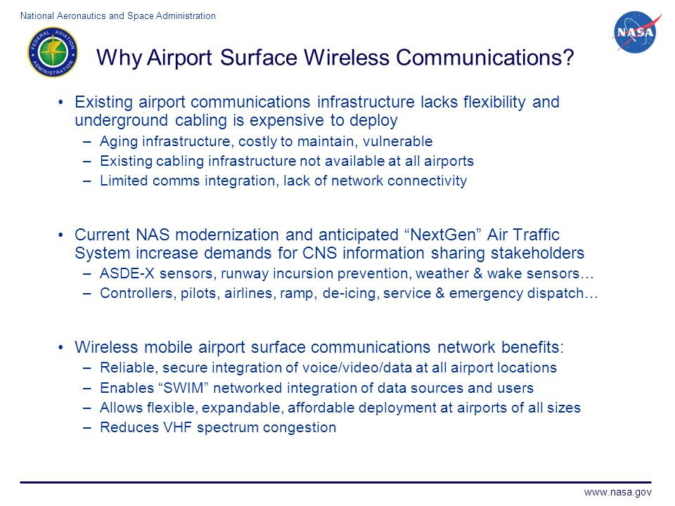 Why Airport Surface Wireless Communications