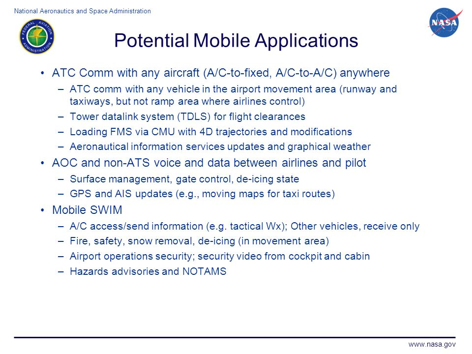 Potential Mobile Applications