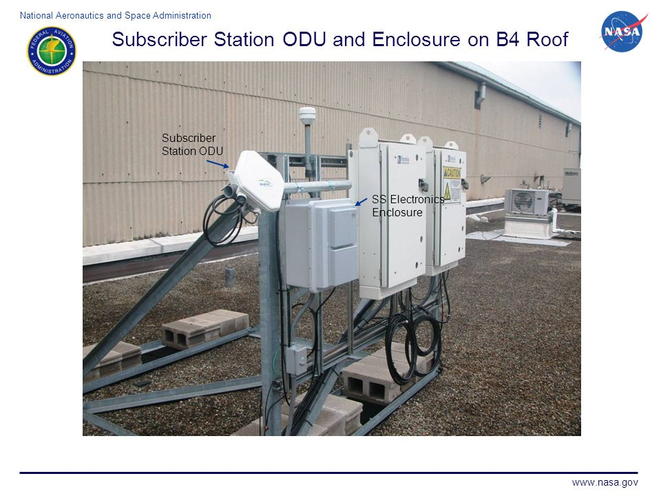 Subscriber Station ODU and Enclosure on B4 Roof