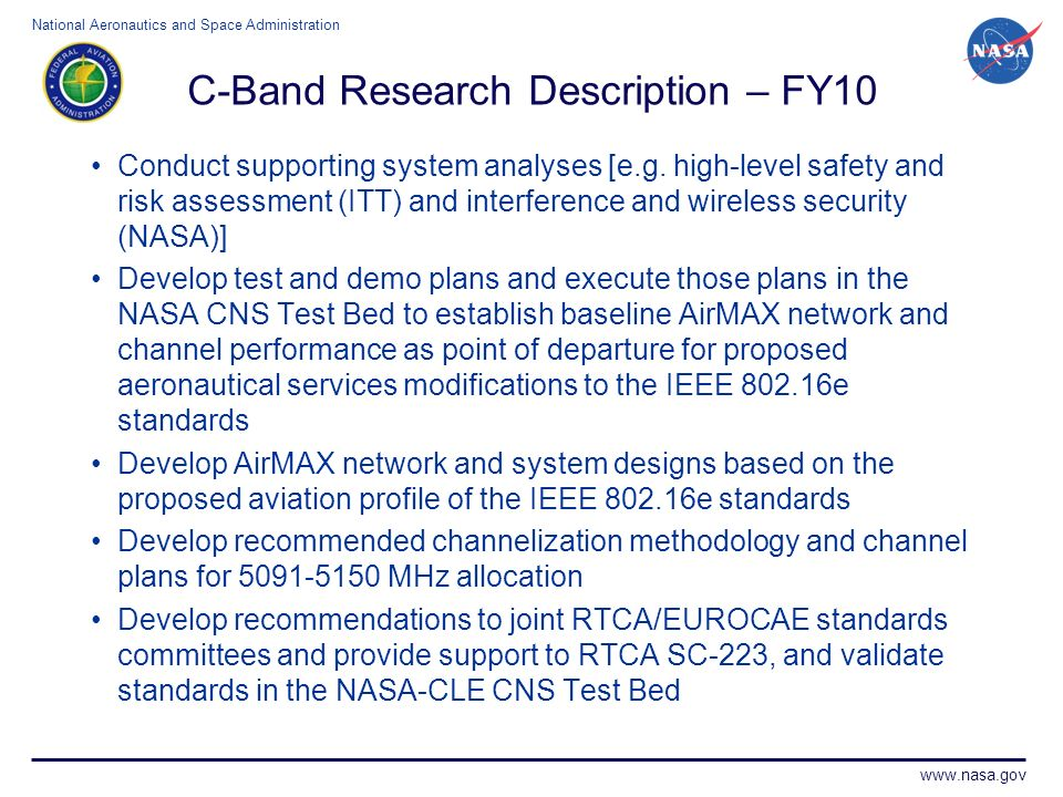 C-Band Research Description – FY10