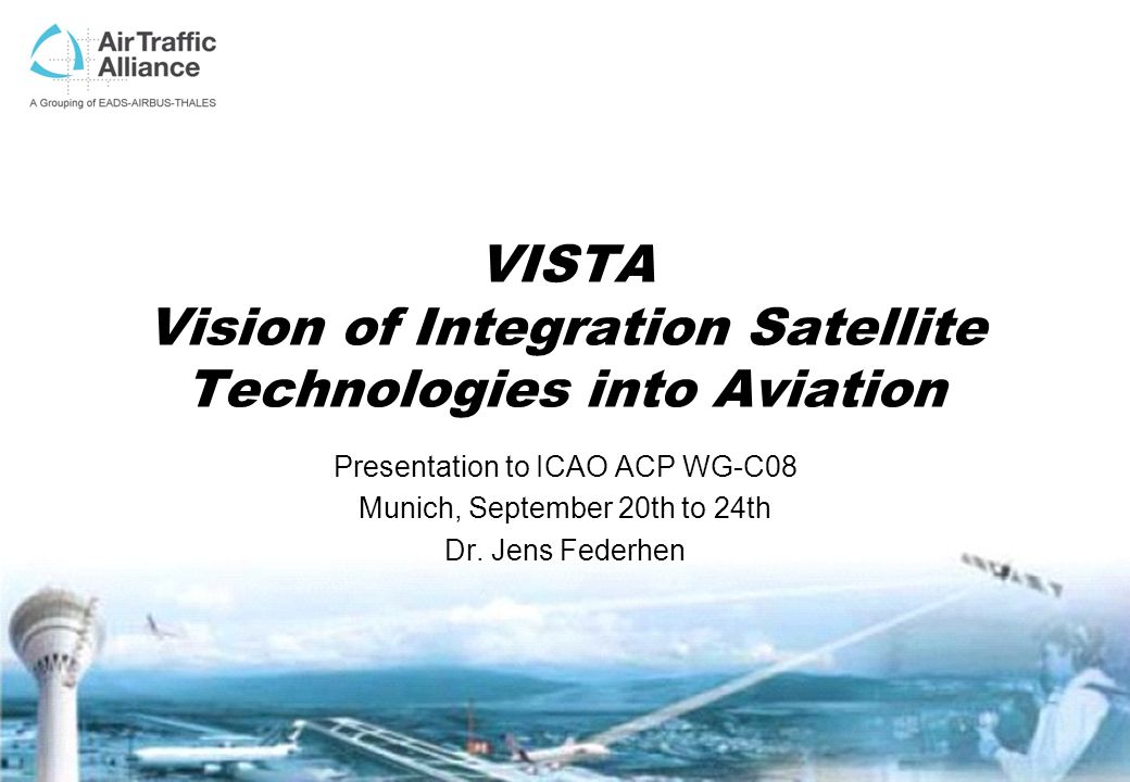 VISTA Vision of Integration Satellite Technologies into Aviation