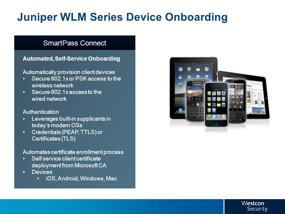 Juniper WLM Series Device Onboarding