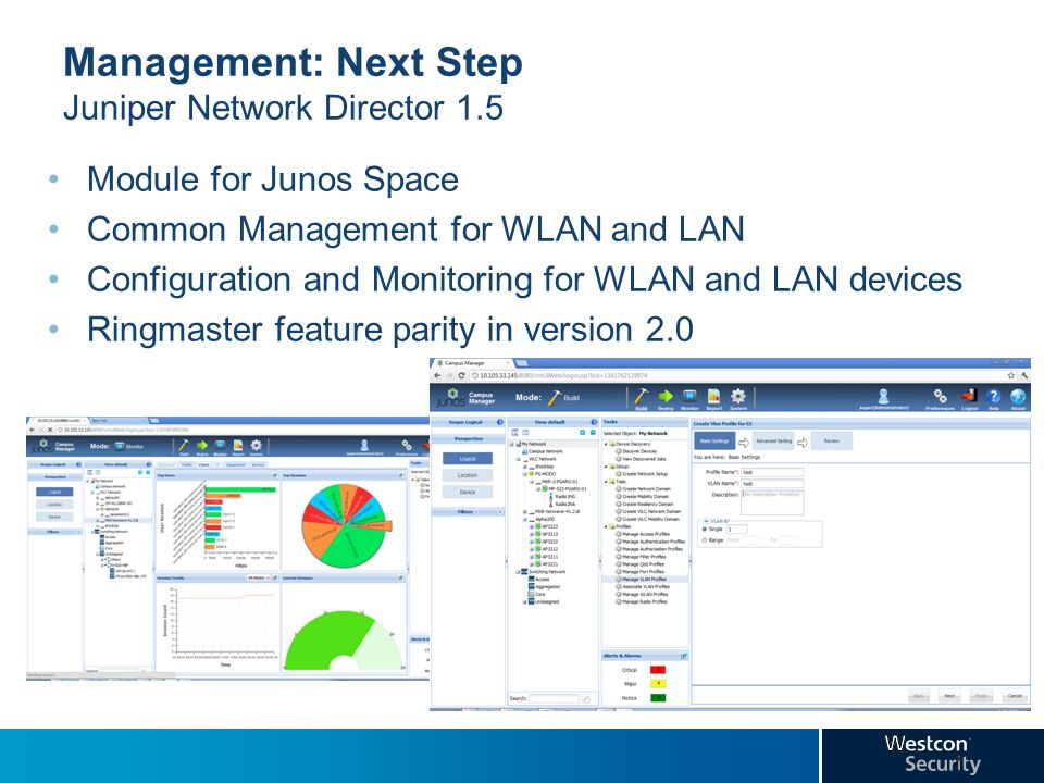 Management: Next Step Juniper Network Director 1.5