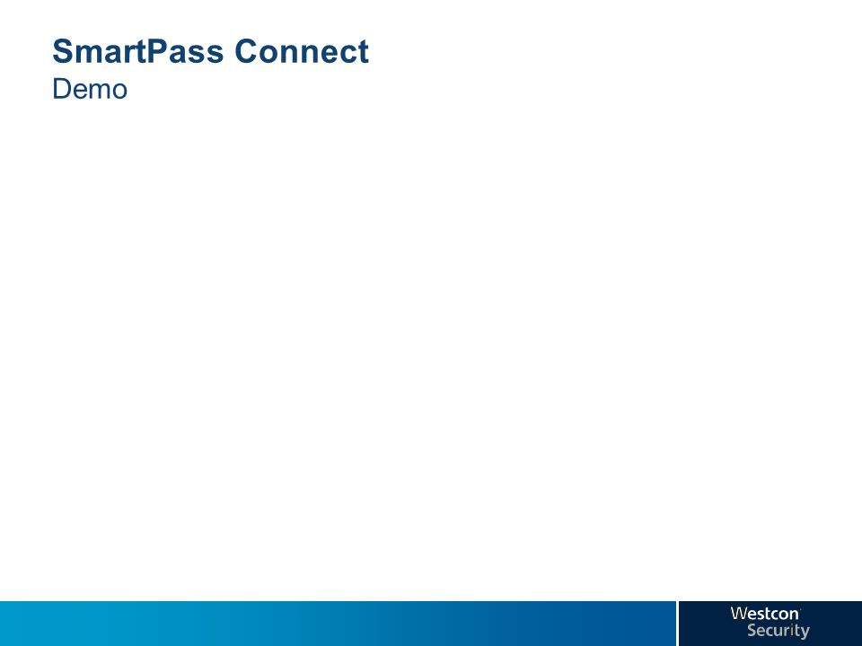 SmartPass Connect Demo