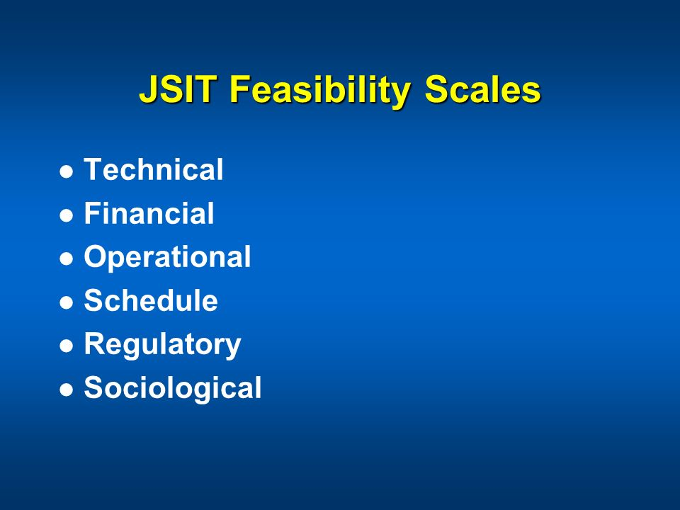 JSIT Feasibility Scales