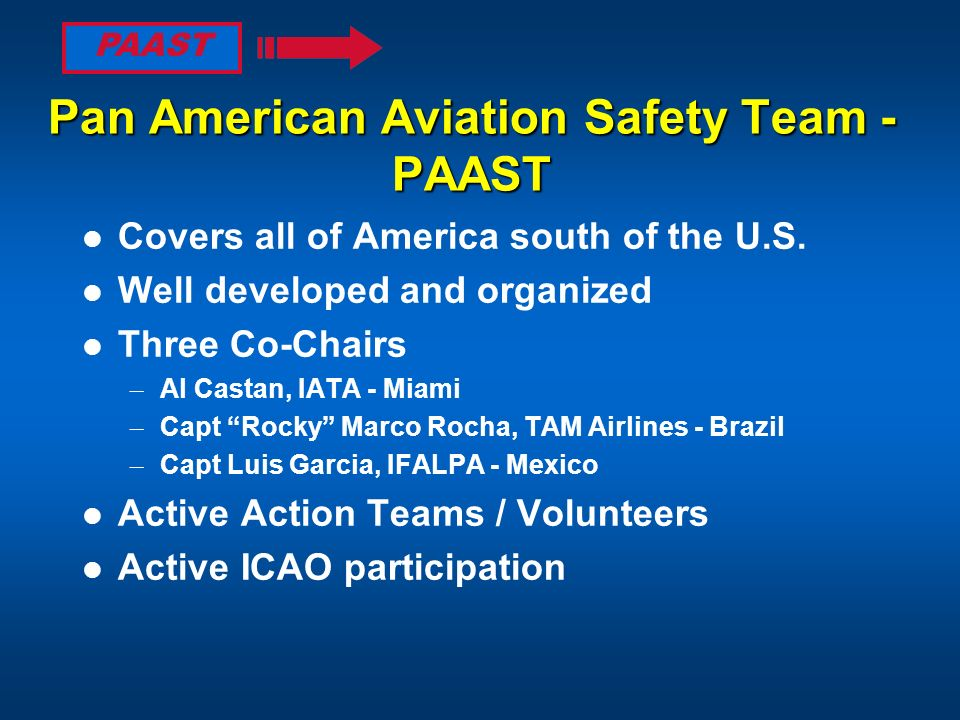 Pan American Aviation Safety Team - PAAST