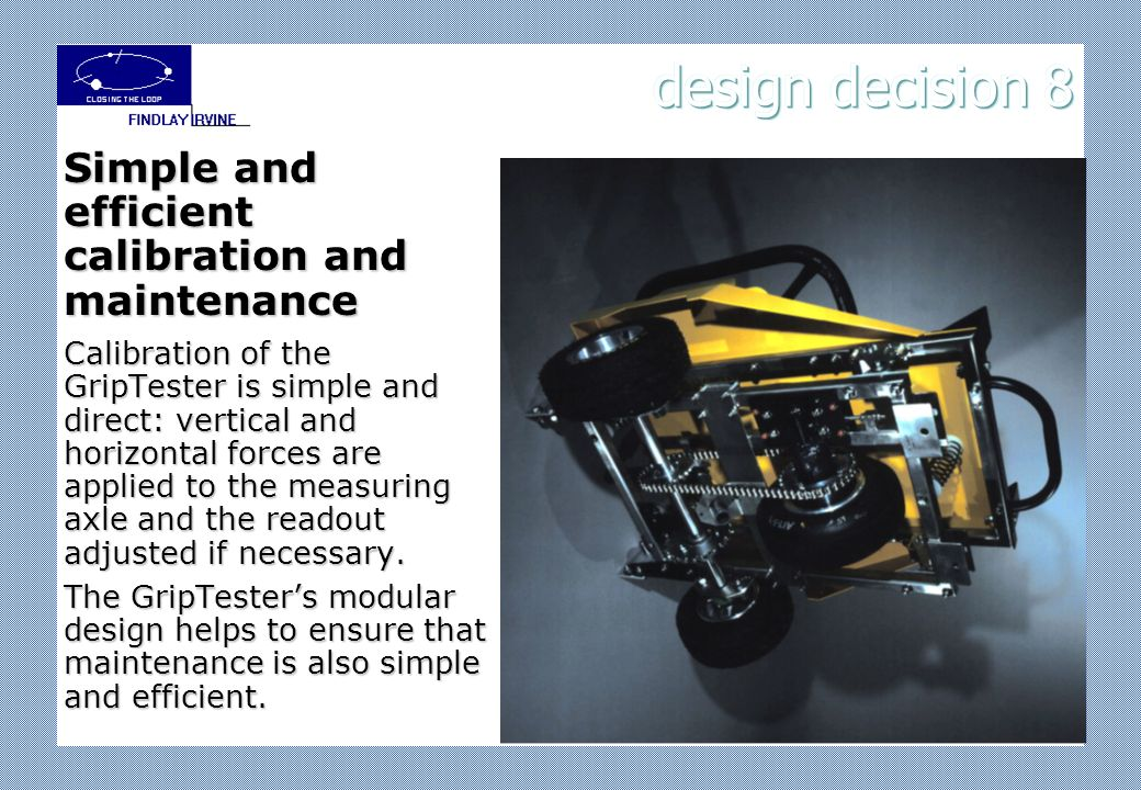 design decision 7 a PC or a specialised data logger with a PC