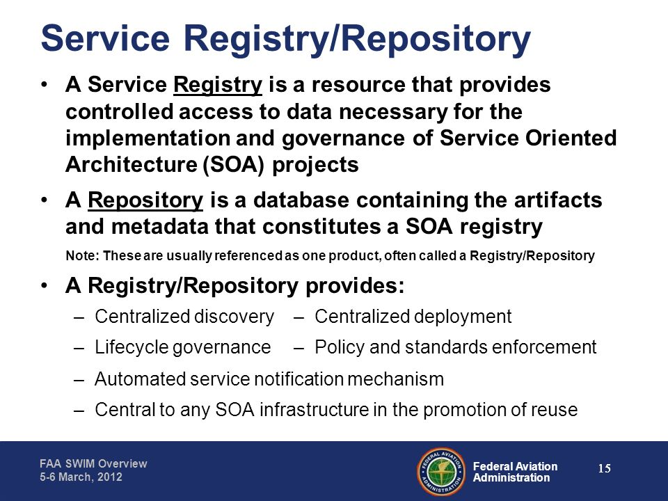 Service Registry/Repository