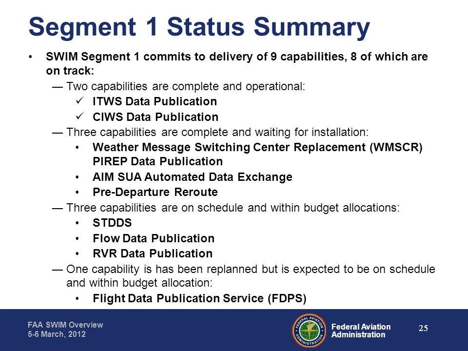 Segment 1 Status Summary