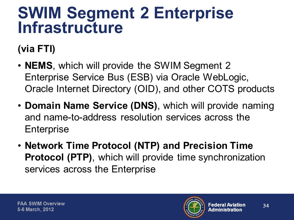 SWIM Segment 2 Enterprise Infrastructure