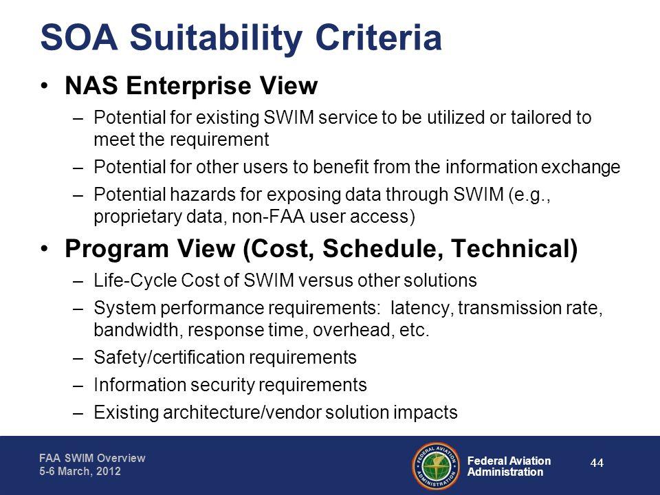 SOA Suitability Criteria